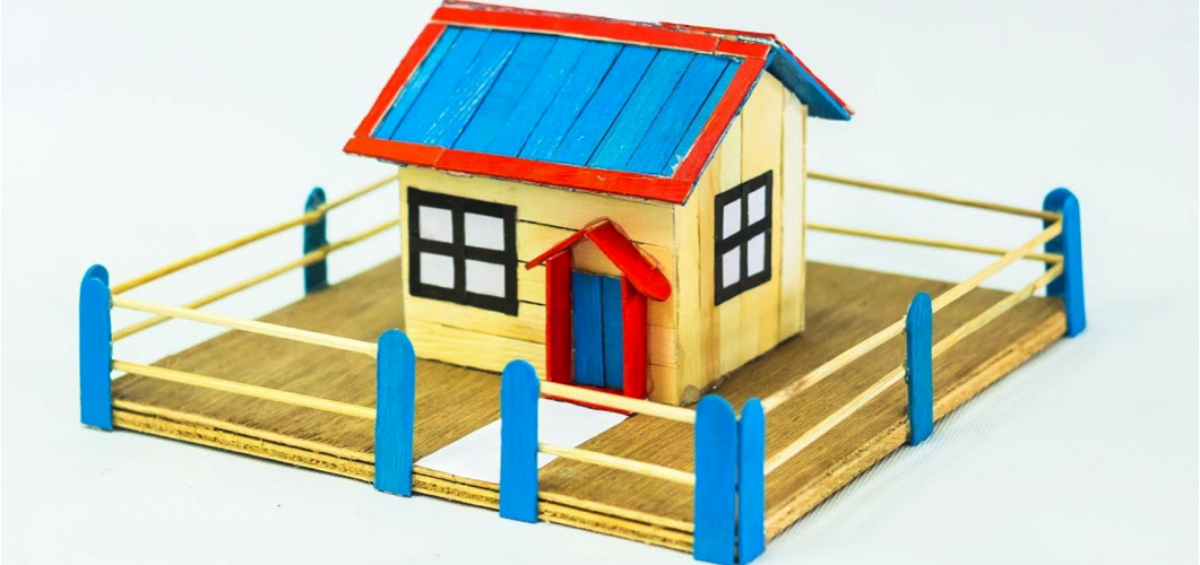 geometry house ideas, craft ideas for children
